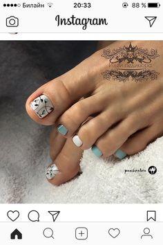 Pedicures, Toe Nails, Polish Nails, Nail Art, Ongles, Feet Nails, Toenails, Pedicure, Toe Polish