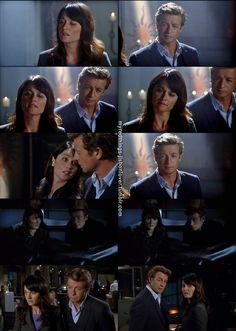 jane and lisbon-->Love this episode! (Season 4, Ruddy Cheeks )