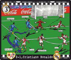 Rayo Vallecano , 0 - Real Madrid CF , 1 - Cristiano Ronaldo