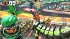 ARMS Spring man Ninjara screen by