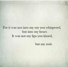 To my late husband, J.B.   My soulmate. I love and miss you.