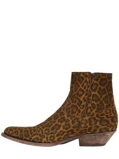 Men's Boots, Jeans And Boots, Summer 2015, Spring Summer, Leopard Ankle Boots, Saint Laurent Boots, Boho Rock, Leopard Fashion, Men's Footwear