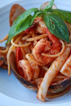 Tom yum Linguini