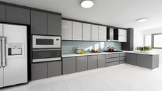 100+ Small Modern Kitchen Designs - Best Interior Paint Colors Check more at http://www.freshtalknetwork.com/small-modern-kitchen-designs/