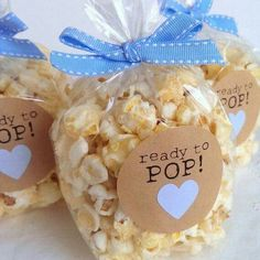 Ready to pop, baby shower popcorn treat