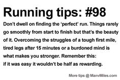 Running Tips: The joy is in overcoming the struggles. Starting running or training for a marathon? Tips and help:Get more running tips and t...