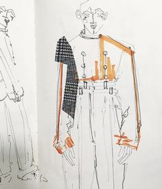 58 New Ideas For Fashion Portfolio Pages Central Saint Martins Alex Russo Trang Nguyen Textiles Sketchbook, Fashion Design Sketchbook, Fashion Illustration Sketches, Illustration Mode, Collage Illustration, Fashion Sketches, Drawing Fashion, Alex Russo, Central Saint Martins