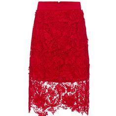 Vjera Vilicnik | Wolf & Badger  #flowerpower #pencilskirt #cottonlace #red