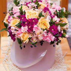 """Цветы в коробке """"Прекрасный праздник""""  – заказать в Украине"""