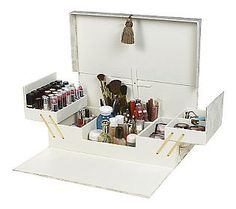 Qvc Makeup Organizer Interesting Tabletop Spinning Cosmetic Organizerlori Greiner  Qvc Tabletop Design Inspiration