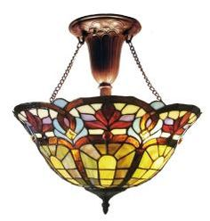 @Overstock.com - Tiffany-style Victorian Bronze-finish Hanging Fixture - Victorian-design hanging lighting compliments almost any decorTiffany-style ceiling fixture includes beige, amber, red, light blue and moreClassical light will never go out of fashion  http://www.overstock.com/Home-Garden/Tiffany-style-Victorian-Bronze-finish-Hanging-Fixture/4118471/product.html?CID=214117 $109.99