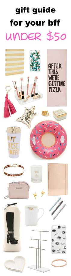 The BEST gift guide for your best friend! Whether it's her birthday, Christmas or a special occasion, here are 30+ gift ideas ALL UNDER $50! (Best Friend Presents)