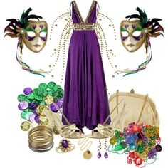 Mardi Gras ball~ Party outfit for Mardi Gras (What to wear - Mardi Gras)