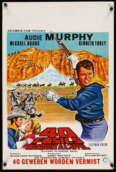 40 Guns to Apache Pass Films Western, Old Western Movies, Western Art, Rifles, Kingston, Tv Westerns, Movie Poster Art, Columbia Pictures, Old Tv Shows