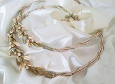 Porcelain leaves wedding crown Greek Goddess style olive | Etsy Wedding Crowns, Orthodox Wedding, Christening Favors, Greek Wedding, Bridal Crown, Wedding Matches, Queen, Dainty Jewelry, Wedding Favours