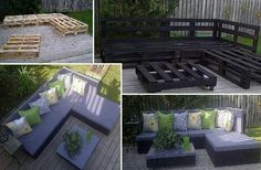 Outdoor furniture made from pallets!!