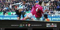 Afc Bournemouth saca un valioso resultado en casa del Newcastle United para sobrevivir el decenso