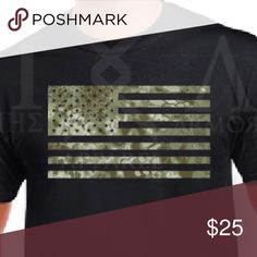 USA Flag Green Kryptek Camo T-Shirt Kryptek Mandrake camo patterned USA flag to be added to the collection. This one is our newest addition and favorite. A must have for your american flag enthusiast. We carry in sizes small- 5xl just comment for availability thanks. NWOT Shirts Tees - Short Sleeve