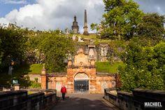 Necrópolis de Glasgow, uno de los cementerios más bonitos de Escocia.