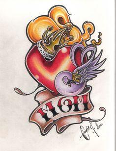 Love U Mom by BettieBoner on DeviantArt Love U Mom, Love Her, Mum Tattoo, Mom Tattoo Designs, Cute Tattoos, Loving U, Bowser, Fantasy Art, Pin Up