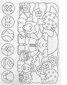 Actividades para niños preescolar, primaria e inicial. Fichas para imprimir en las que tienes que completar los dibujos y colorearlos para niños de preescolar y primaria. Completar y Colorear. 29