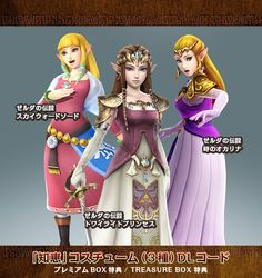 3 costumes DLC pack known for Zelda Hyrule Warriors special editions | Skyward Sword, Twilight Princess, Ocarina of Time #Zelda| ゼルダ無双
