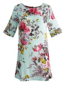 Joules Womens Dress, Blue Floral.