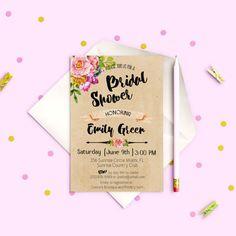 Kraft Bridal Shower invitation Bridal Shower by AlniPrints on Etsy  #Bachelorette #Bridal #Shower #Invitation #brunch #idea #invite #Lingerie #party #dinner