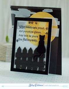 When Black Cats Prowl Card by Betsy Veldman for Papertrey Ink (August 2014)