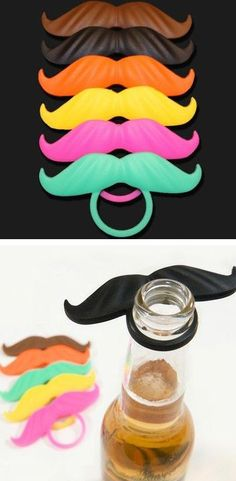 BearMo // mustache moustache beer marker... hilarious #product_design perfect for #movember or December...