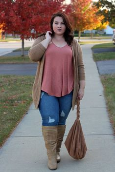 Casual And Comfy Plus Size Fall Outfits – plus size outfits Plus Size Fashion For Summer, Plus Size Winter Outfits, Plus Size Fall Outfit, Casual Winter Outfits, Fall Outfits, Cute Outfits, Casual Plus Size Outfits, Casual Wear, Curvy Girl Fashion