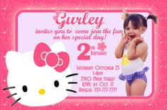 65 hello kitty invitations ideas