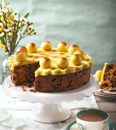 Edd Kimber's simnel cake recipe is made using ground almonds and cooked on a low heat over a long period of time making the texture lighter than traditional versions.