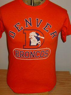vintage 1980s Denver Broncos Champion MEDIUM 50 50 t shirt efed03000