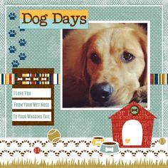 Lorrie's Story: Dog Days Digital Scrapbook Layout