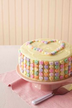 Easy to make (and so yummy!) Valentine's Day candy cake.