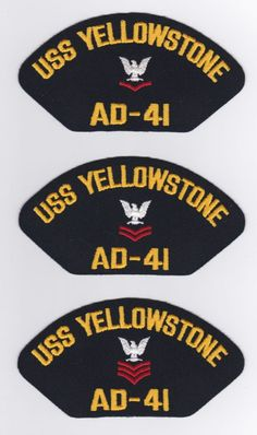 USS YELLOWSTONE AD-41-2 These original hat patch is for sale for $2.00 ea including s & h.  Contact ussforrestalcva59@gmail.com