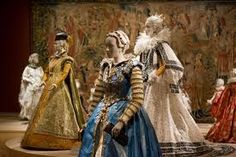 Collection of Isabelle De Borchgrave's paper costume works.