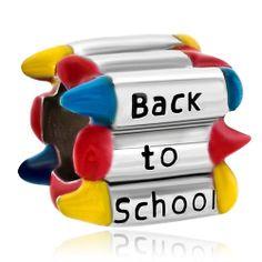 Charmed Craft Colorful Crayon Back To School Bead Designer Charm Fit Pandora Bracelets Pandora Graduation Charm, Pandora Compatible Charms, Halloween Beads, Pandora Bracelet Charms, Charm Bracelets, Color Crayons, Beads Online, Bead Shop, Graduation Gifts