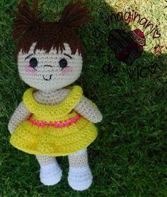 Crochet doll M Doll Patterns Free, Crochet Dolls Free Patterns, Crochet Toys, Crochet Baby, Free Crochet, Crochet For Boys, Knitted Dolls, Amigurumi Doll, Sewing