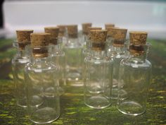 100 2ml vials. Small Corked Vials. Glass Storage Containers. Small Glass Bottles With Corks. Glass Jars Wholesale. Mini Jar Favors. Mini Jar