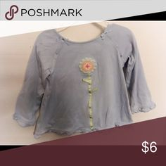 Gymboree shirt Light blue, long sleeve cotton top with pastel flower detail on the front. Size: 2t. Condition: GUC (light color). Smoke free/dog friendly home. Gymboree Shirts & Tops Tees - Long Sleeve