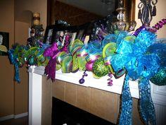 Peacock Christmas, Whimsical Christmas, Burlap Christmas, Christmas Mantels, 1st Christmas, Christmas Candy, Christmas Themes, Christmas Tree Decorations, Whoville Christmas