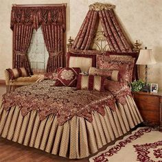 Add a regal touch to your bedroom by adding a bed crown, or wall tester. An ornate Bed Crown can create a magnificent focal point above your bed. Bedroom Sets, Dream Bedroom, Bedroom Decor, Master Bedroom, Budget Bedroom, Bedroom Storage, Master Suite, Bedroom Furniture, Furniture Ideas
