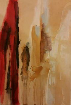 Arrowhead Peak. Acrylic, rust and oil bar on canvas. By Diane Williams
