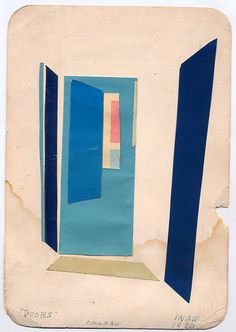 """""""Doors"""" -- collage, by """"Inge,"""" 1980"""