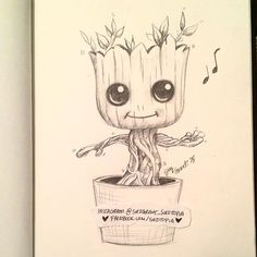 Day 4 - Suztopia 30-Day Sketch Challenge  Baby Groot! I AM Groot! So adorable! Almost missed my deadline for today :) it's my husband's Birthday, so we were out and about. I did this sketch in about 20 minutes lol. Either way, the cuteness is there.  By @suzgrant_suztopia  http://Fb.com/suztopia  #groot #babygroot #iamgroot #graphite #pencilsketch #suztopiadaily #sketch_daily #suzgrant #suztopia #suzgrant_suztopia