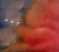 'Wild Geese' by Petar Novakovic www.petarart.co.uk Artist, Painting, Painting Art, Paintings, Painted Canvas, Drawings, Artists