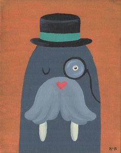Mr. Walrus Art Print