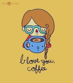 coffee, morning, cute, kawaii, pretty